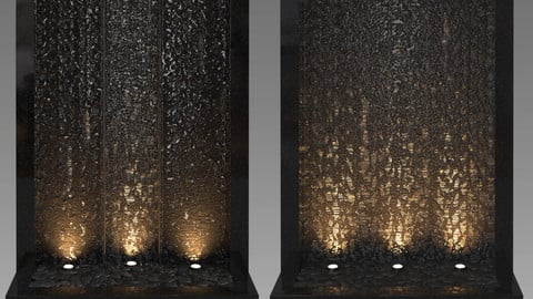 Wall fountains - Corona - Vray