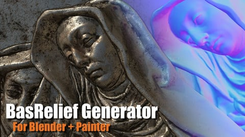 Bas Relief Generator 2.0 for Blender + Painter