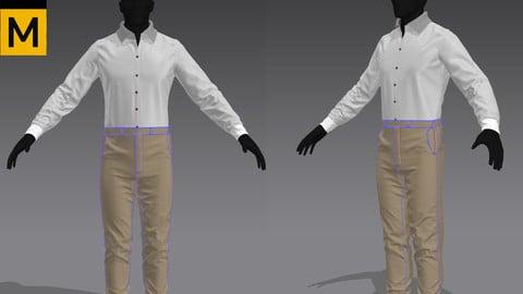 Shirt Khaki pants Marvelous Designer Zprj