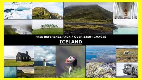 FREE ICELAND / Photo Reference / 1250+ images