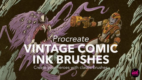 Procreate Vintage Comic Ink Brushes