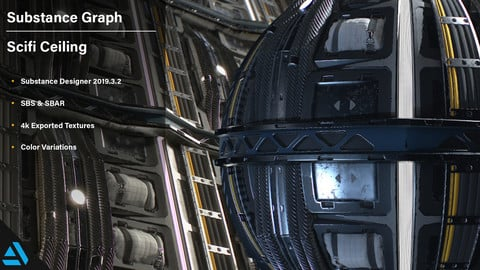 Artstation Learning | Scifi Ceiling| Substance Graph