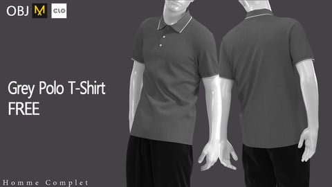 Men's Grey Polo T-shirt