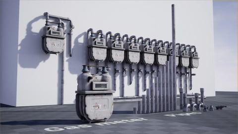 Gas Meter and Modular Pipes