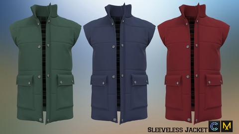 Sleeveless Jacket, Marvelous designer, Clo3d