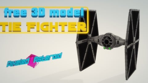 Free Tie Fighter low poly/ UV textures incl.