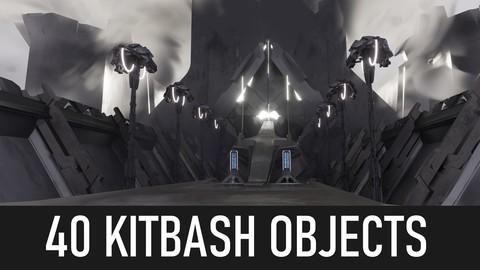 40 Kitbash sci-fi objects