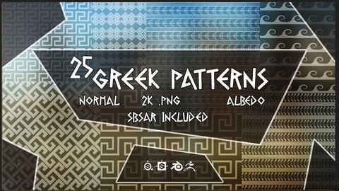 25 Greek Patterns (x25 SBAR Included)