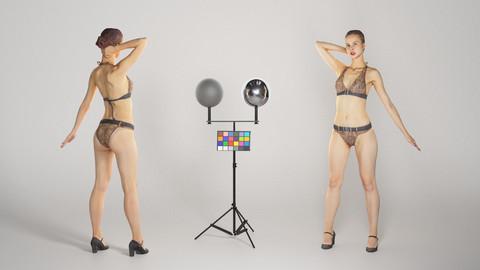 Slim beautiful woman in a swimsuit posing 168