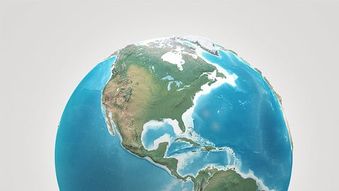 3D Earth Model (high poly count)