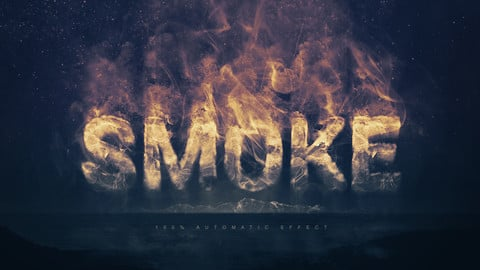 Smoke Logo Text Effect for Adobe Photoshop