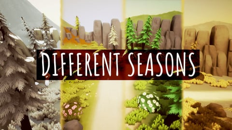 Different Seasons, a stylized environment in Unreal engine 4