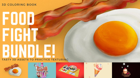 3D Coloring Book - Food Fight Bundle