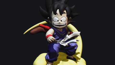 Goku Flying Nimbus 1986 STL