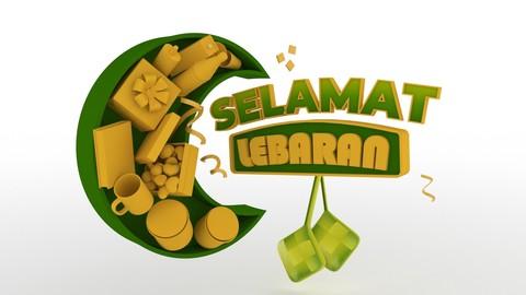 Lebaran (Eid Mubarak) 3D Model