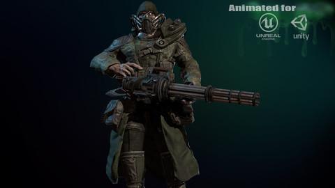 mutant with a machine gun