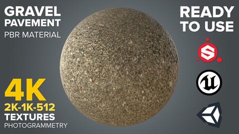 Gravel Pavement - Photogrammetry-based Environment Texture