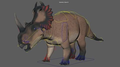 FREE MAYA Centrosaurus Dinosaur Rig