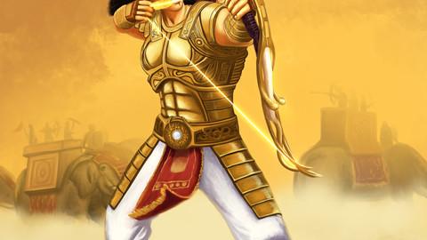 Arjuna the Great Warrior illustration