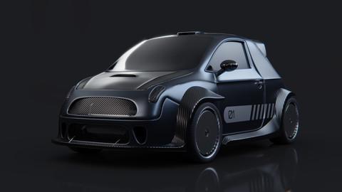 Pocket Rocket - game-ready car model