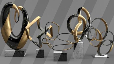 Decorative Set Vol.01: Abstract Sculptures