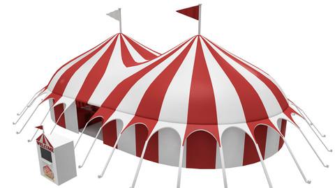 Circus interior and exterior model 3D model