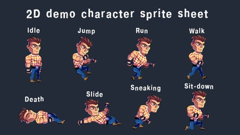Free 2D Demo Character sprite sheet