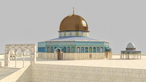 Dome of the Rock Jerusalem 3D model