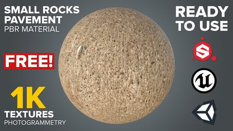 FREE Small Rocks Pavement - Photogrammetry-based Environment Texture