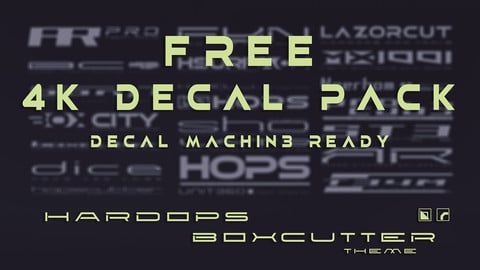 Hardops/Boxcutter themed FREE 4K decal pack - Decal Machine ready