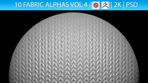 10 Fabric Alphas Vol.4 (ZBrush, Substance, 2K)