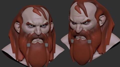 Viking  Head Sketch