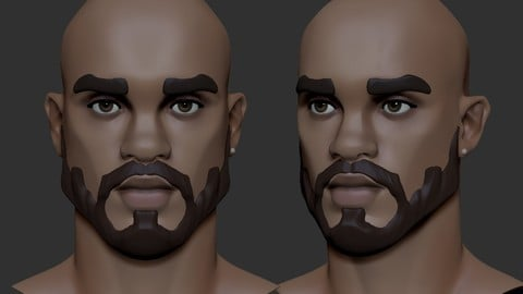 stylized Male head Basemesh4