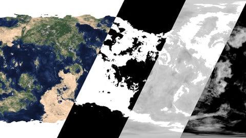 Procedural Planet Texture Map Generator - Blender