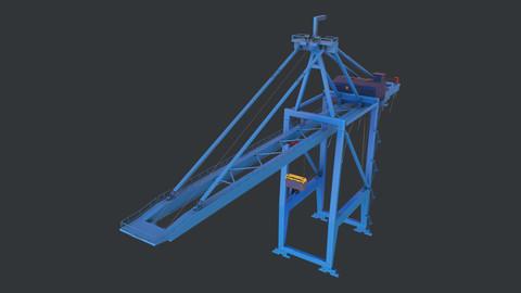 PBR Quayside Container Crane Version 1 - Blue A