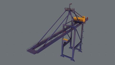 PBR Quayside Container Crane Version 1 - Blue Dark