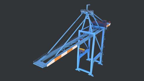 PBR Quayside Container Crane Version 1 - Blue Orange
