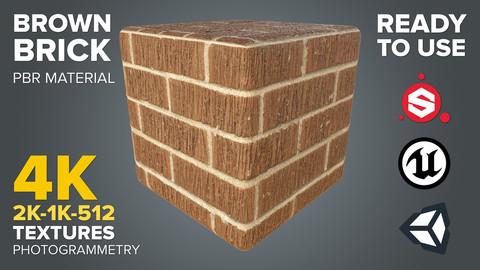 Brown Brick - Photogrammetry-based Environment Texture