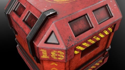 Red Scifi Container