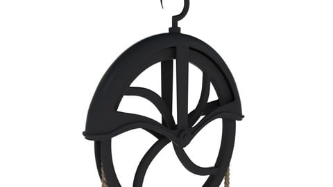 Antique Well Pulley