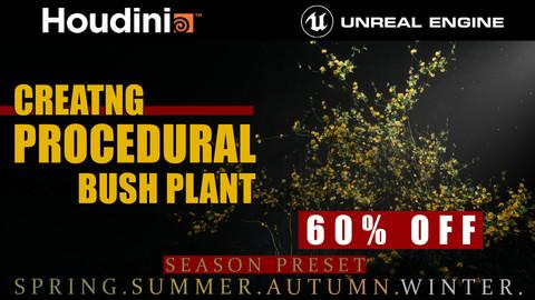 Houdini Tutorial Procedural Bush Plant in Unreal Engine 4