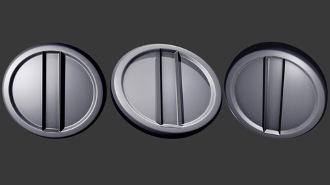 High and Low Poly Coin