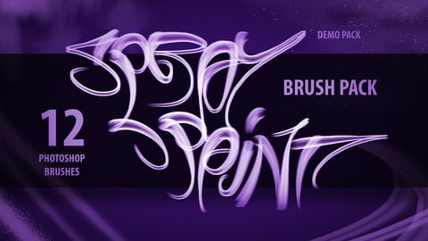 Demo Spray Paint Brush Pack - Photoshop (12 Brushes)