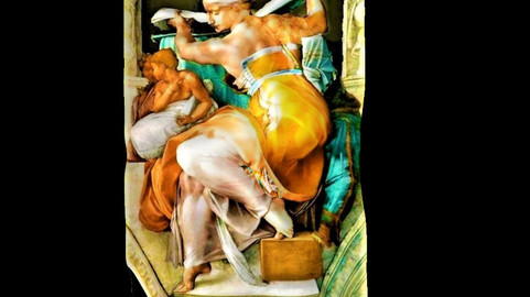 LYBIC SIBYL - SYBIL SERIES - MICHELANGELO - SIXTINE CHAPEL - XVI CENTURY
