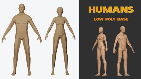 Humans base Low-poly