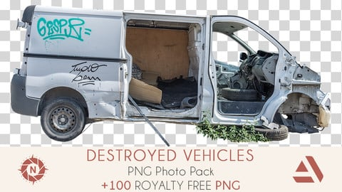 PNG Photo Pack: Destroyed Vehicles