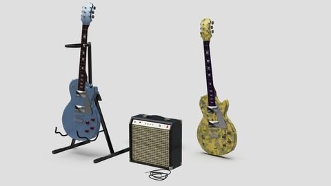 Les Paul + ampli + stand