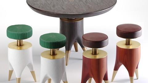Mushroom Table And Molar Stool
