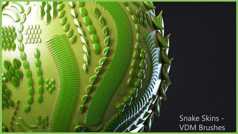 Zbrush - Snakeskin - 21+ VDM Brushes