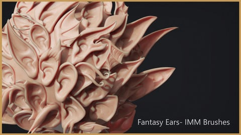 Zbrush - 40 Fantasy Ear IMM Brushes